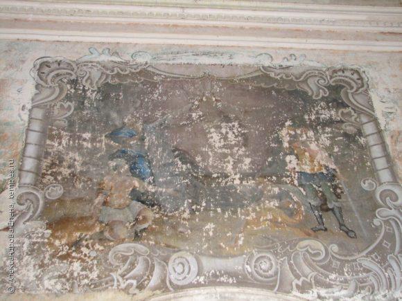 Церковь Воскресения Христова в Бартеневщине Галичского района Костромской области. Фрагмент росписи. 23 сентября 2009 года