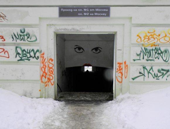 Московская область, Домодедовский район, платформа Ленинская. Зима 2012.