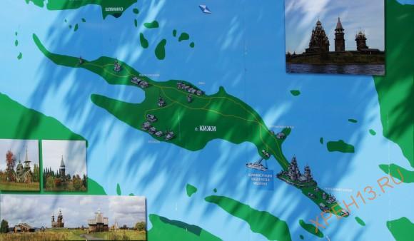 Карта острова Кижи.