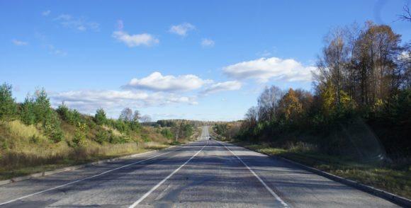 Шикарная дорога в Муромском районе. Да и с погодой нам очень повезло.