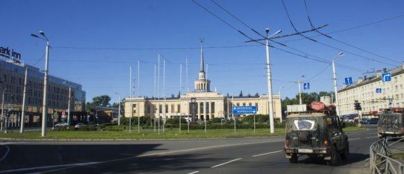 Железнодорожный вокзал в Петрозаводске.