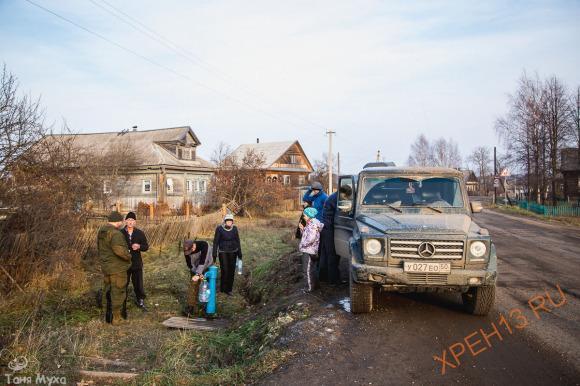 Костромская обл., Чухломский р-н., д. Повалихино. Осень 2014.