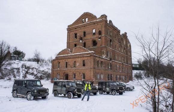 д. Юрятино, Тарусский район Калужской области. Зима 2015.