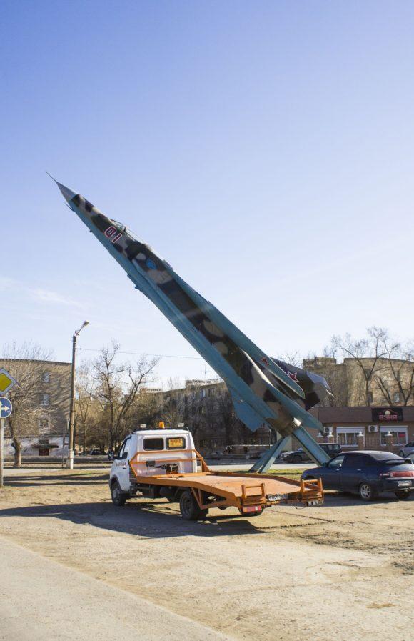 Астраханская область, Ахтубинский район, г. Ахтубинск. МиГ-23УБ-КО. Весна 2015.