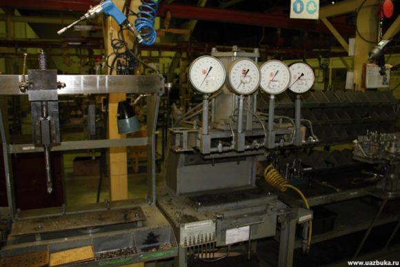 Установка для проверки герметичности головки блока цилиндров для двигателя ЗМЗ 51432.10