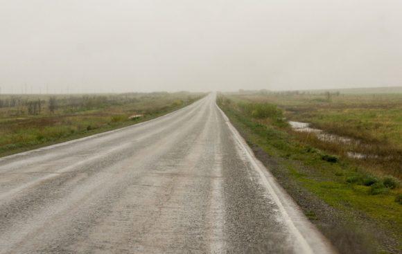 А вот дальше началась бесконечная дорога дорога до Аральска.