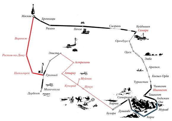 Кстати, в итоге, наш маршрут получился вот так, можете сравнить с предыдущей картинкой.