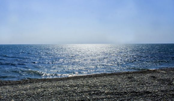 Вцелом, берег довольно пологий, а вода прозрачная.