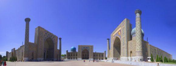 площадь Регистан. мусульманское учебное заведение, выполняющее роль средней школы и мусульманской духовной семинарии