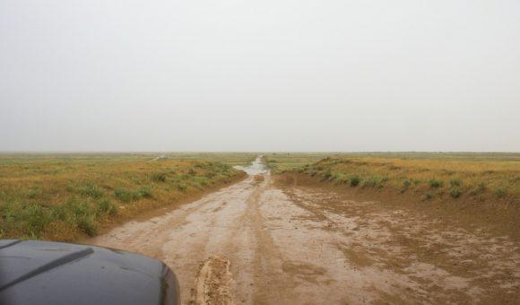 Но нам на Лагань не надо, нам надо вперед. Что бы ехалось интереснее начался дождь.