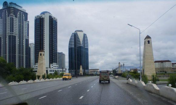 Сейчас руины сменились шикарными домами, один только Гро́зный-Си́ти» — комплекс высотных зданий в Грозном, расположенный в центре города, по проспекту имени А-Х. А. Кадырова, на берегу реки Сунжа.