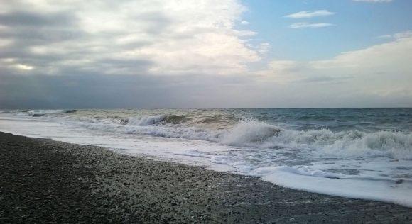Вдоль дороги начинается Черноморское побережье.