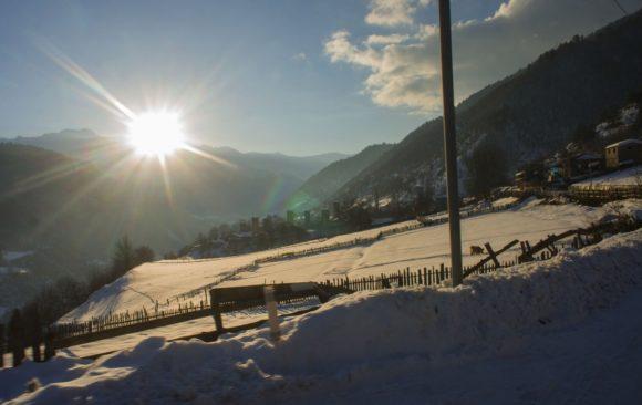 Грузия, Верхняя Сванетия, с. Ленгери. Зима 2017.