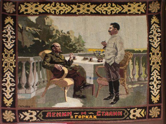 """Ковер """"Ленин и Сталин в Горках""""."""
