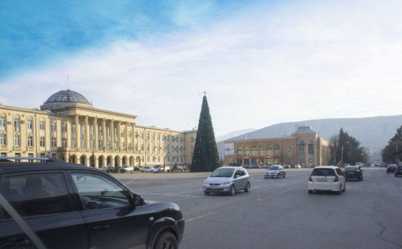 Площадь Сталина, здание горисполкома.