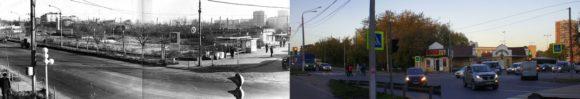 Перекресток улиц Московская и Чехова 1977-2016 годы.