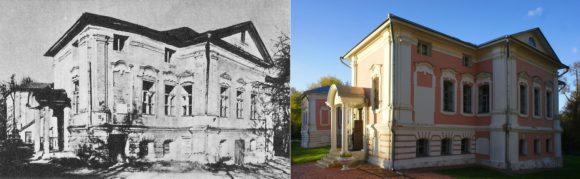 """После этого здание было заброшено, горело. Сейчас все восстановлено, действует «Музей-усадьба """"Лопасня-Зачатьевское"""", где можно познакомиться с бытом дворян, а также проходят различные выставки."""