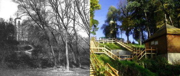 Раньше вокруг Садков был разбит большой красивый парк, сейчас от него мало, что осталось. Но если от усадьбы спускаться в сторону Лопасни нельзя не заметить Святой источник с часовней и купальней. Ее построили на деньги прихожан.